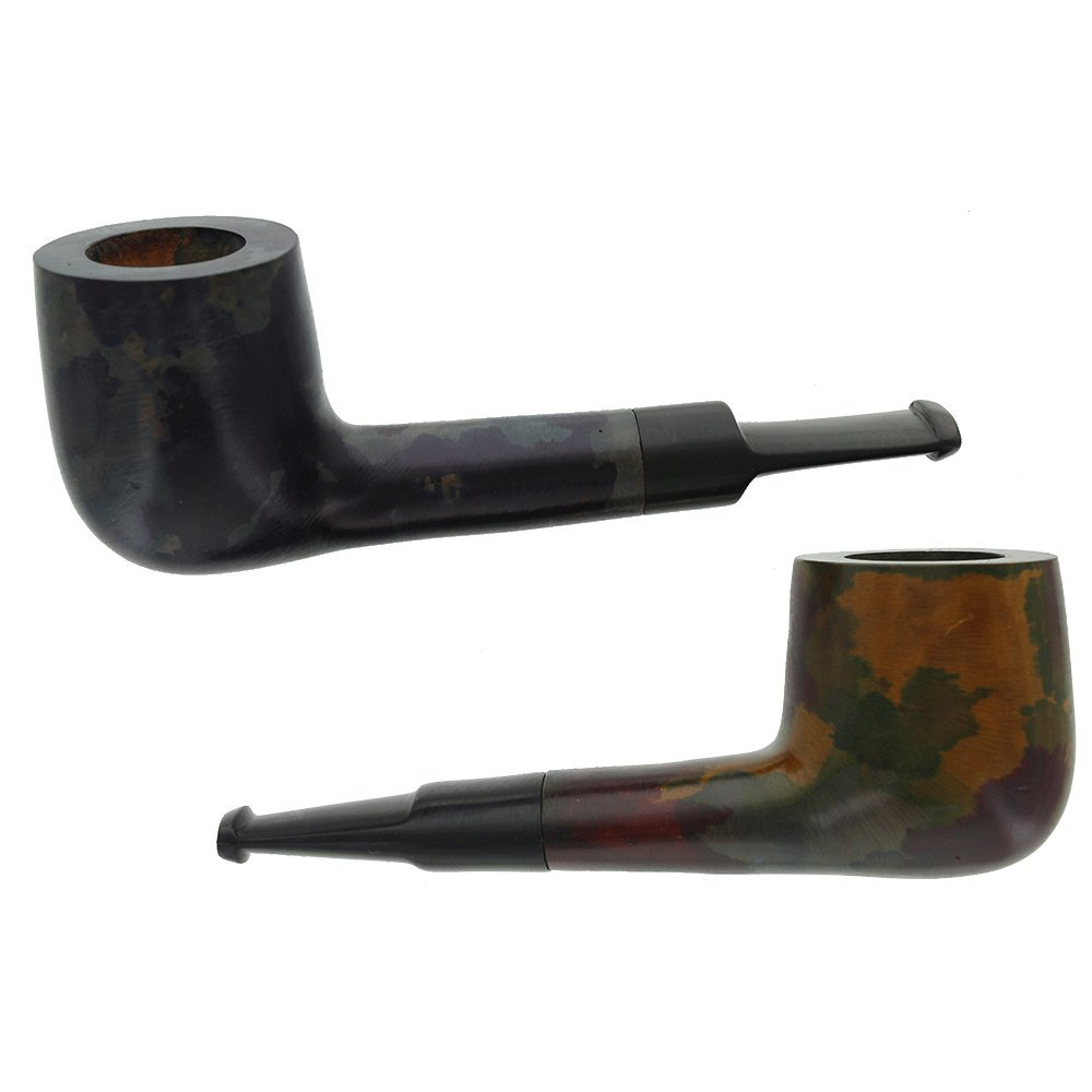Briar Smoking Pipe - Assorted 2 Pack of Small Pipes (Multi-Color)