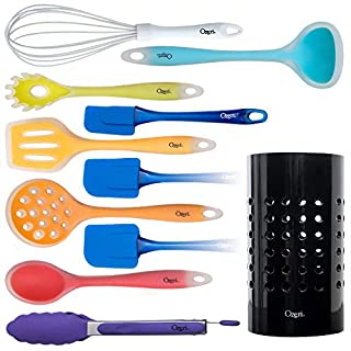 Ozeri 11 Piece All-In-One Silicone Utensil Set, Multicolor
