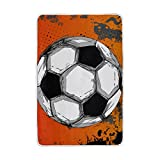 ALIREA Grunge Color Full Soccer Ball Super Soft Warm Blanket Lightweight Throw Blankets for Bed Couch Sofa Travelling Camping 90 x 60 Inch for Kids Boys Girls