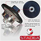 diamond profile wheel 3/8 inch radius - Demi Half Bullnose B10 Router Bit For Marble Stone Granite Edges By STADEA