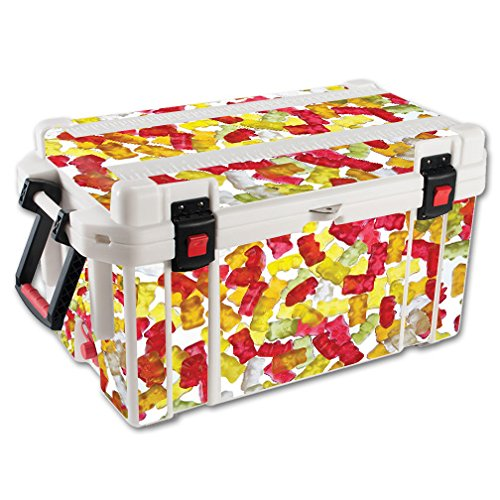 MightySkins Skin For Pelican 65 qt Cooler – Gummy Bears | Protective, Durable, and Unique Vinyl Decal wrap cover | Easy To Apply, Remove, and Change Styles | Made in ()