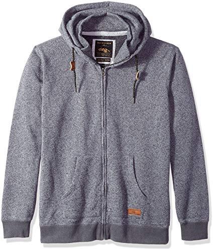 Quiksilver Men's Keller Zip UP Hoodie Jacket, Dark Grey Heather, S