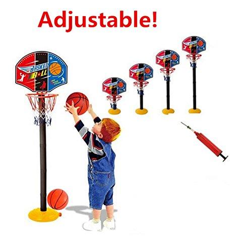 Elloapic Mini調整可能バスケットボールフープElevatedタイプバスケットボールスタンドBasketball Gameスポーツtoy-インドアアウトドア楽しいスポーツNoveltyおもちゃwith Oneバスケットボールと1つInflator   B01M74BQTO