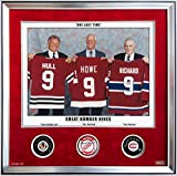 Autographed Ltd Ed /9 Maurice Richard, Gordie Howe, Bobby Hull - Signed Pucks