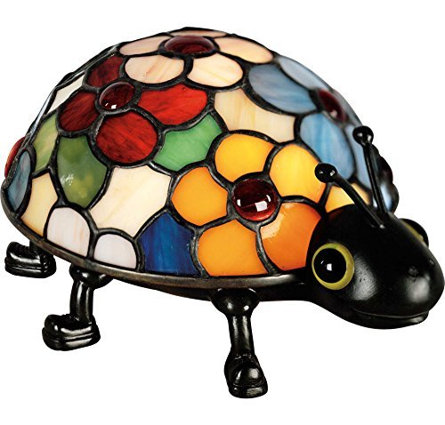 Quoizel Tiffany 1 Light Flowered Lady Bug Accent Lamp by Quoizel