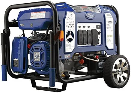 Ford 11,050W Dual Fuel Portable Generator with Switch Go Technology and Electric Start, FG11050PBE