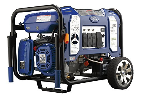 - Ford 11,050W Dual Fuel Portable Generator with Switch & Go Technology and Electric Start, FG11050PBE