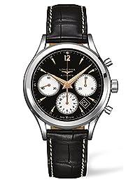 Longines Heritage Column Wheel Chronograph Steel Mens Strap Watch Calendar L2.750.4.96.0