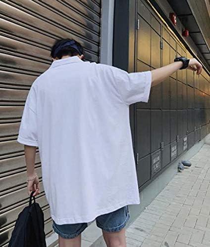Ellteポロシャツ 半袖tシャツ メンズ 五分袖 夏 Tシャツ ビッグシルエット トップス シンプル ワンポイント カットソー お出掛け 通学 綿シャツ 韓国風Tシャツ 青春 ファッション
