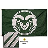 Colorado State Rams Embroidered and Stitched Nylon Flag