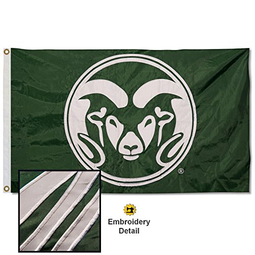 Colorado State Rams Embroidered and Stitched Nylon -