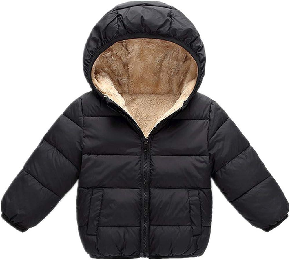 Toddler Baby Boy Down Jacket Coat Kid Girl Warm Winter Hooded Outerwear Snowsuit 1-7t