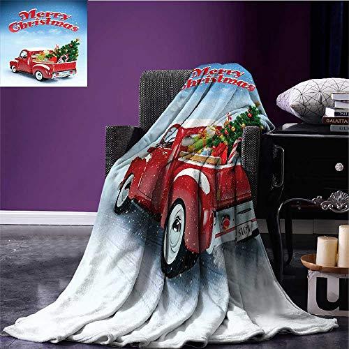 homehot Christmas Microfiber All Season Blanket Pickup Truck