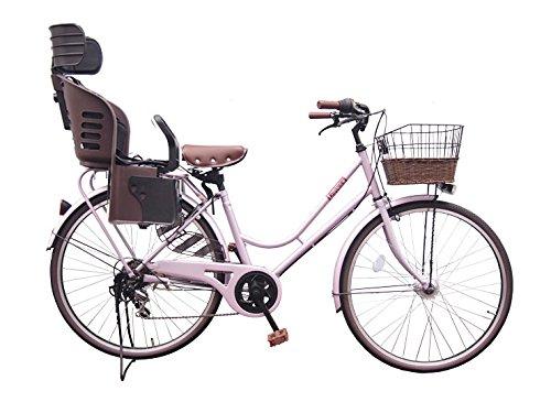 Lupinusルピナス 自転車 26インチ LP-266HA-knrj-br シティサイクル LEDオートライト SHIMANO製6段ギア 樹脂製後子乗せブラウン  シャンパンピンク B073LSCD4K