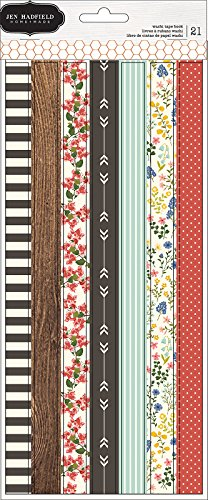 American Crafts Jen Hadfield Simple Life 3 Washi Tape Sheets ()