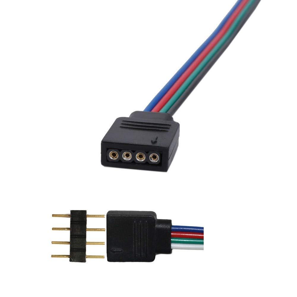 scrivania notturna 10 pz 10mm 4 pin maschio femmina connettore PCB per RGB 5050 strisce LED 3528bene Scont