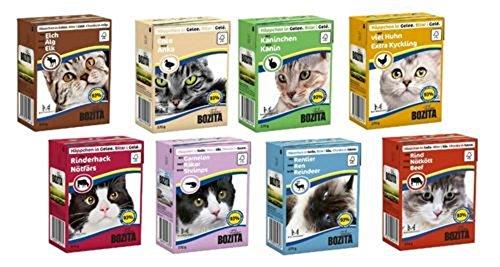 48 x 370g Bozita Katzenfutter in Gelee oder Sauce – Mixpaket