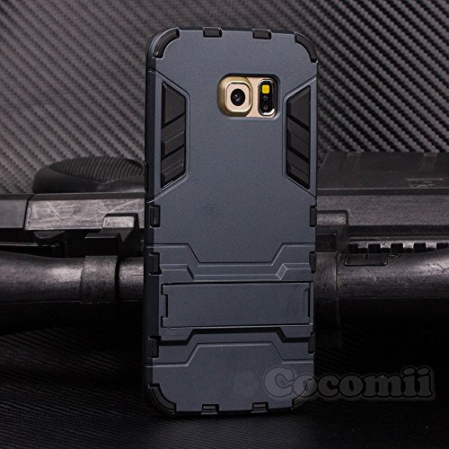 Galaxy S6 Edge Case, Cocomii Iron Man Armor NEW [Heavy Duty] Premium Tactical Grip Kickstand Shockproof Hard Bumper Shell [Military Defender] Full Body Dual Layer Rugged Cover Samsung (Black)