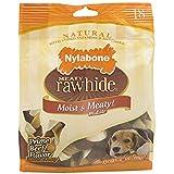 Nylabone Rawhide Meaty Dog Bone Beef Flavor Treats 2- 18ct 8.2 oz Bags (Pack of 2)