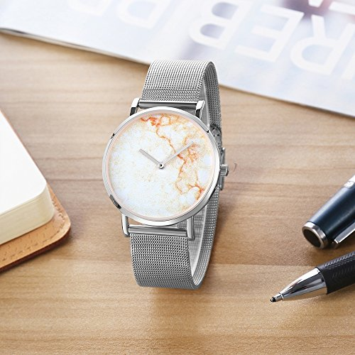 Dig dog bone 6812 Round Dial Alloy Silver Case Fashion Couple Watch Men & Women Lover Quartz Watches With Stainless Steel Band (SKU : Wa0724a) by Dig dog bone (Image #4)