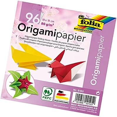 Folia 9160 - Papel para origami (96 hojas de 19 x 19 cm ...