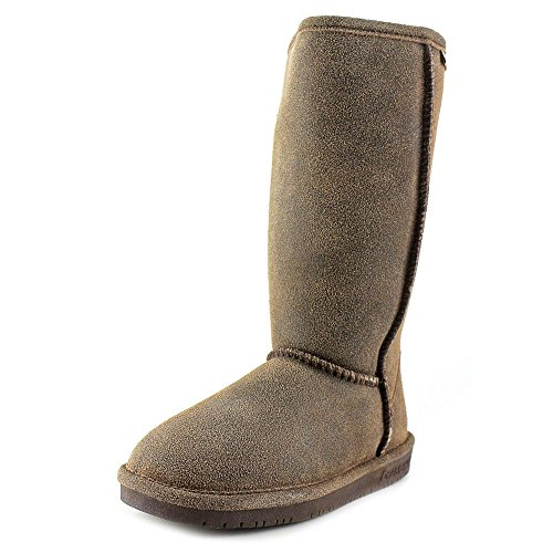 BEARPAW Damen Emma Tall Fashion Boot Chestnut Distressed
