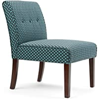 Simpli Home Sally Brook Patterned Accent Chair, Teal