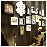 OOFYHOME Nordic solid wood photo frame creative photo wall / frame wall