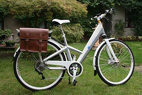 Doppeltasche für Fahrradgepäckträger. Tragetasche für Fahrräder. Weinlese Style. Traitement Abdichtung. Als Leder.