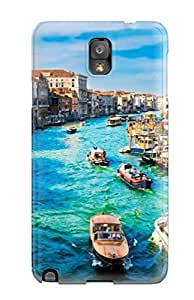 Rugged Skin Case Cover For Galaxy Note 3- Eco-friendly Packaging(the Waterway)