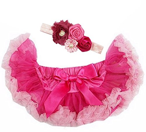 Kirei Sui Baby Pettiskirt Headband Set Hot Pink ()