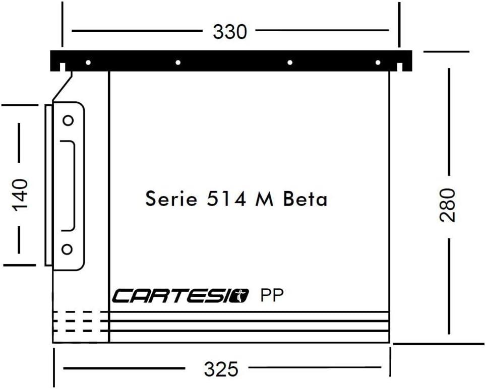 Bertesi 514M BETA-A7 Cartelle Sospese Cartesio in Polipropilene