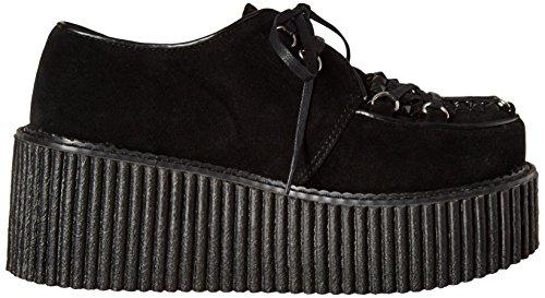 Demonia Womens Cre216 / Bvs Sneaker Moda Vegan Nero Scamosciato