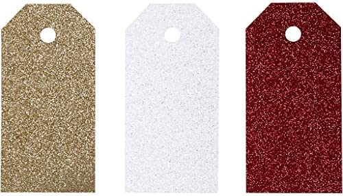 Geschenk-Anhänger, Größe 5x10 cm, 300 g, Weiß, Gold, Rot, Copenhagen, 12Stck.