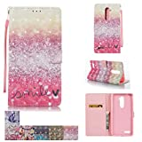 zte zmax phone cases new york - ZTE Zmax Pro Case, ZTE Carry Case, Firefish [Kickstand] [Card/Cash Slots] Flip Cover Impact Dispersion Wallet with Wrist Strap for ZTE Zmax Pro / Carry Z981 -Smile