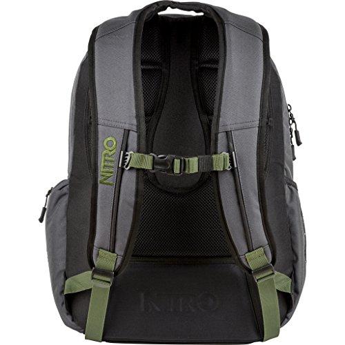 Nitro Rucksack Hero, Schulrucksack, Schoolbag, Daypack, black, 52 x 38 x 23 cm, 37 L Pirate Black