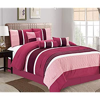 Amazon.com: JBFF Cal King 7 Piece, Collection Bed in Bag