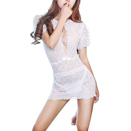 V1 Clothing CO Ropa Interior Atractiva de la tentación de la Ropa Interior Blanca de la