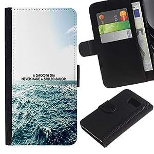 Stuss Case / Funda Carcasa PU de Cuero - Un mar impresiones Smooth - Samsung Galaxy S6