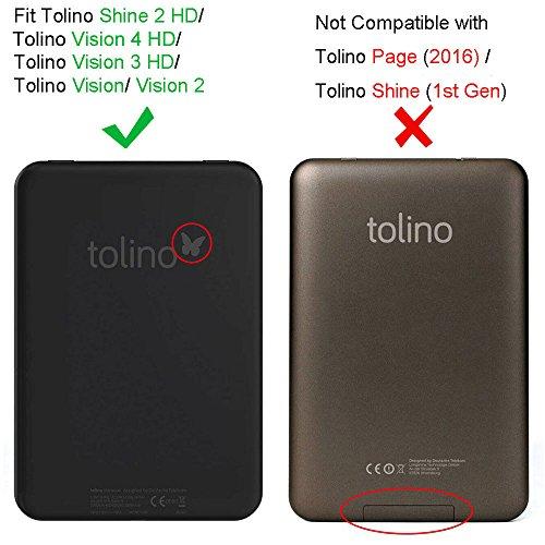 Tolino Vision 1 / 2 / 3 / 4 HD und Tolino Shine 2 HD Hülle - Fintie Ultradünne SlimShell Case Schutzhülle Tasche Etui mit Ruhemodus und Magnetverschluss für Tolino Vision 4 HD / Vision 3 HD / Vision 2 Z -Die Galaxie