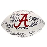 Alabama Crimson Tide Team Autographed White Panel Football - With Nick Saban - JSA Certified Authentic