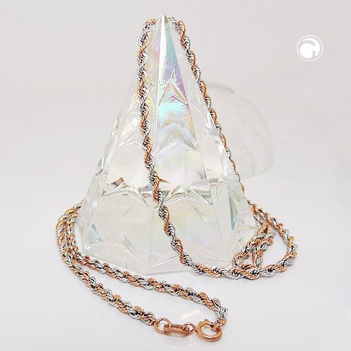 2mm chaîne cordon collier collier bijoux fin 375or 45cm-Femme