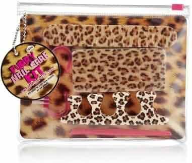 Leopard Furry Nail Care Kit