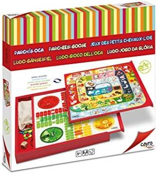 Cayro - Box Parchis y Oca - Juego de Tradicional - Juego de Mesa - Desarrollo de Habilidades cognitivas - Juego de Mesa (860): Amazon.es: Juguetes y juegos