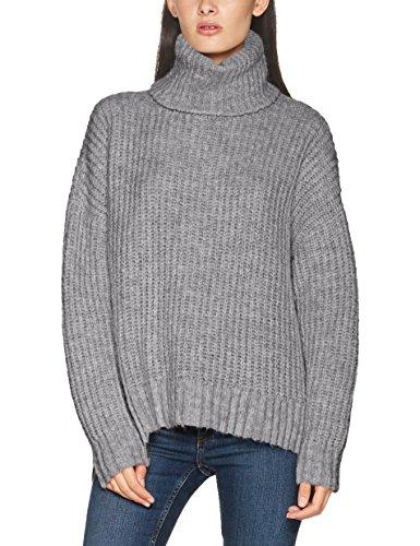 Herrlicher Anika Wool, Suéter para Mujer Grau (Light Grey Melange 443)