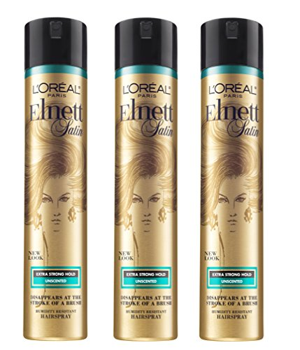 (L'Oréal Paris Elnett Satin Extra Strong Hold Hairspray - Unscented,11 Oz, 3 Count)