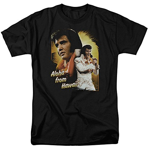 Elvis Presley - Aloha from Hawaii - Adult T-Shirt - XL Black