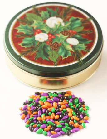 Scott's Cakes Halloween Mix Chocolate Covered Sunflower Seeds in a Mini Christmas Bouquet (Mini Bouquet Seed)