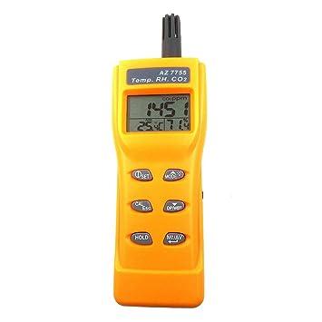 TOOGOO Az7755 Detector De Gas Co2 con Prueba De Temperatura y Humedad con Conductor De Salida