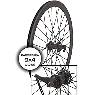 RMS 2 ruedas contrapedal 40 mm cruzada 9 x 4 Negro (contrapedal)/pair